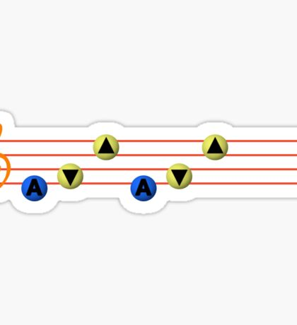 Ocarina Melodies - Song of Storms Sticker