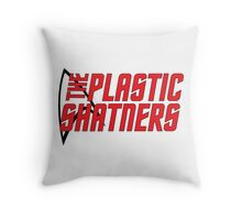 Plastic Shatners Red Logo Throw Pillow