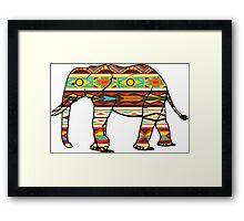 Tribal Elephant Framed Print