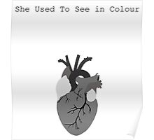She used to see in colour Poster