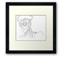 Kid Flash sketch Framed Print
