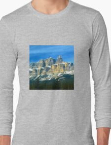 Mountains in Banff canada Long Sleeve T-Shirt