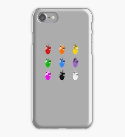 A life Dynamic in Rainbow Hearts iPhone Case/Skin