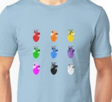 A life Dynamic in Rainbow Hearts Unisex T-Shirt