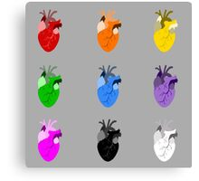 A life Dynamic in Rainbow Hearts Canvas Print