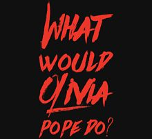 what would olivia pope do (red) Womens Fitted T-Shirt