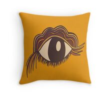 Simple Eye (Mustard) Throw Pillow