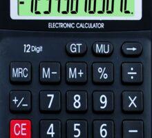 iphone calculator Sticker