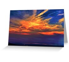 Memories of a Sunset - Large Greeting Card