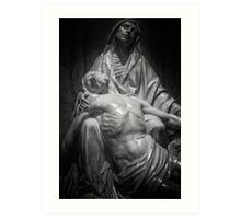 Statue of Maria with Jesus Art Print