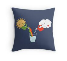 The Glass is Refillable Throw Pillow