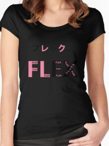 FLEX JAPAN BLACK/PINK Women's Fitted Scoop T-Shirt
