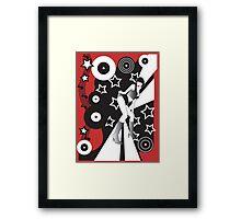 Retro Glam Discotheque Red Framed Print