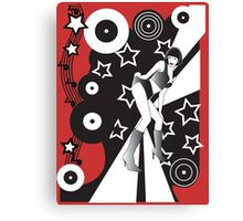 Retro Glam Discotheque Red Canvas Print