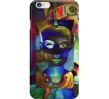 Nefertiti_Blue_beige iPhone Case/Skin