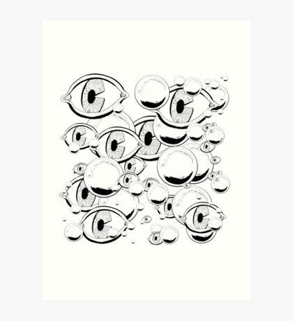Eyes & Bubbles Art Print