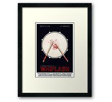 Whiplash film poster Framed Print
