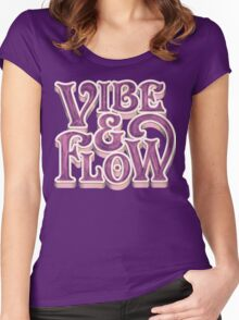 Vibe & Flow Women's Fitted Scoop T-Shirt