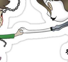 Chain Link and Clockwork Jane stickers Sticker