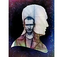 The Ninth Doctor Silhouette with Sketch Photographic Print