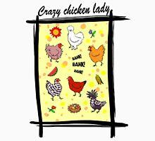 Cute seamless chickens pattern cartoon Womens Fitted T-Shirt