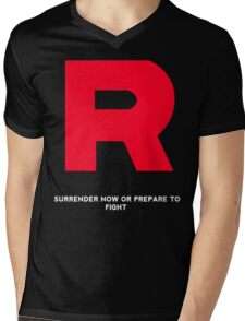 Team Rocket T-Shirt With Quote  Mens V-Neck T-Shirt