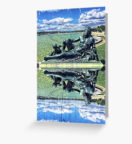 The Garonne Bronze Statue Versailles Paris France Sculpture Greeting Card