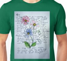 Flower-poetry Unisex T-Shirt