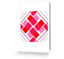 Geometrical Heart Shape Patterns Greeting Card