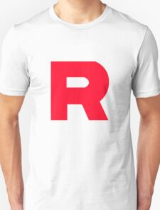 Team Rocket T-Shirt Without Quote Black and White  T-Shirt