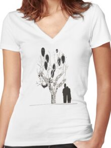 love story  Women's Fitted V-Neck T-Shirt