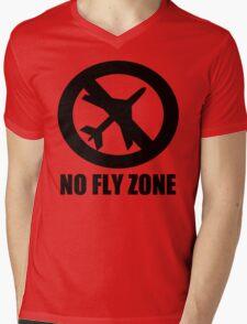 NO FLY ZONE Mens V-Neck T-Shirt
