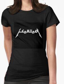 METALLICA FONT LOGO ARABIC Womens Fitted T-Shirt