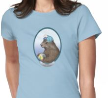 Psychic Groundhog Predicts the Future Womens Fitted T-Shirt
