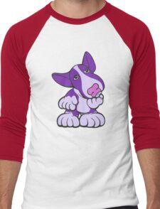 Pondering EBT Cartoon Purple  Men's Baseball ¾ T-Shirt