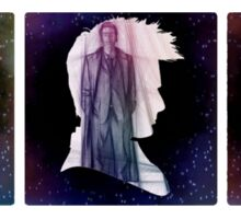 The Three Doctors' Silhouettes  Sticker