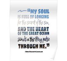 Secret of the Sea Longfellow Quote Art Poster