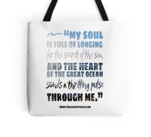 Secret of the Sea Longfellow Quote Art Tote Bag