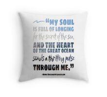 Secret of the Sea Longfellow Quote Art Throw Pillow