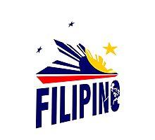 Filipino Stars and Sun Design Photographic Print