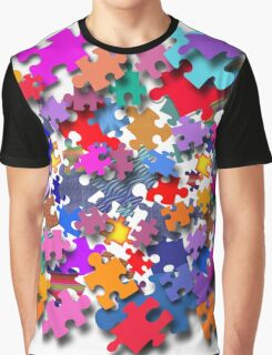 """Jigsaw Pieces"" graphic art Graphic T-Shirt"