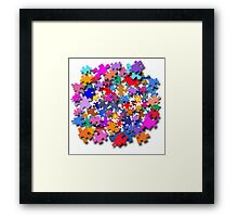 """Jigsaw Pieces"" graphic art Framed Print"