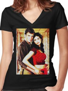 Mal and Inara Women's Fitted V-Neck T-Shirt
