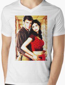 Mal and Inara Mens V-Neck T-Shirt