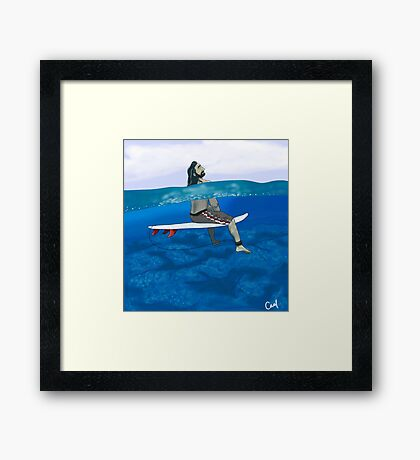 Surfer Thorin Framed Print