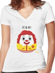 Ronald Daruma Women's Fitted V-Neck T-Shirt