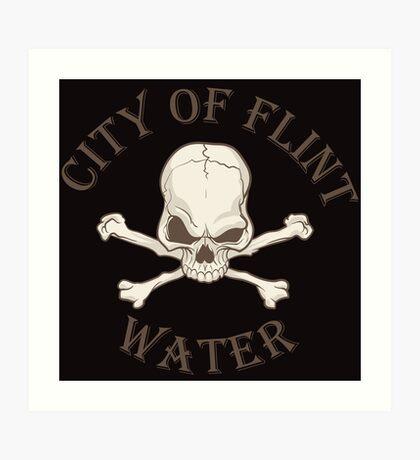 City of Flint Water  Art Print