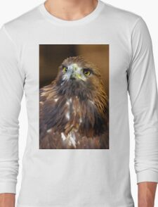 The Stare Of A Golden Eagle - (Aquila chrysaetos)  Long Sleeve T-Shirt
