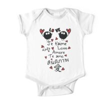 Love in many language One Piece - Short Sleeve