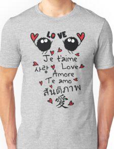 Love in many language Unisex T-Shirt